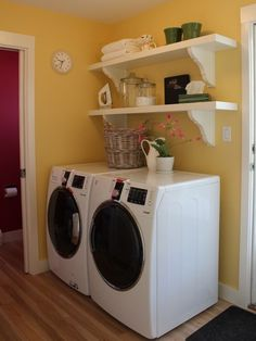 prettify the laundry room - see post for details on what she bought where