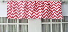 Zigzag Valance by GallaryVerde Chevron Valance, Valance Curtains, Custom Valances, Etsy Fabric, Valance Window Treatments, Window Sizes, Rod Pocket, Zig Zag, Bold Colors