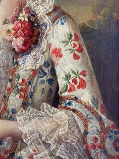 ca 1750s, Portrait of a lady with her dog (detail) attributed to François-Hubert Drouais