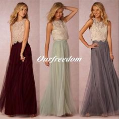 I found some amazing stuff, open it to learn more! Don't wait:https://m.dhgate.com/product/two-pieces-bridesmaid-dresses-lace-bodice/375392682.html