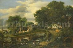 Sharing public domain artworks from the Museum of the Netherlands, Rijksmuseum. 16th Century, Castle, Around The Worlds, Artist, Canvas, Prints, Painting, Outdoor, Public Domain