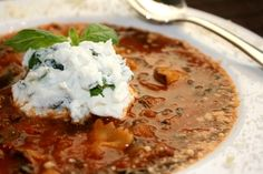 Lasagna soup, I've made this and it is so delicious