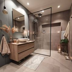 Find here some special colors for bathrooms and see your whole bathroom transform into a great interior design with some simple steps. Bathroom Design Luxury, Modern Bathroom Design, Modern Luxury Bathroom, Kitchen Design, Washroom Design, Toilet Design, Modern Bathrooms, Bathroom Colors, Small Bathroom