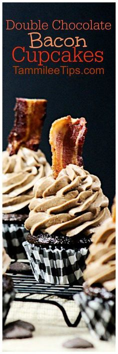 Chocolate bacon Cupcakes Recipe is the perfect sweet and salty dessert treat. Easy to make and taste amazing! Homemade from scratch perfect for birthday parties, bachelor parties, guys night, or anyone who loves bacon!