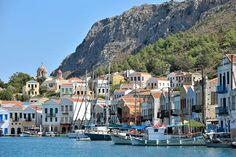 Le port de Megisti à Kastellorizo Spaces, Travel, Blue Skies, Turkey, My Dream House, Italy, City, Terrace