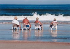 Old people on Daytona Beach.....wait, is that me?  This is what I will be doing this year on vacation....LOVE it.