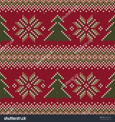 Traditional Fair Isle Knitted Sweater Design. Seamless Vector Pattern