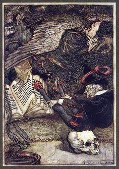 Arthur Rackham – was an English book illustrator. Arthur Rackham is widely regarded as o Harry Clarke, Arthur Rackham, Westminster, Art And Illustration, Book Illustrations, Kensington Gardens, Brothers Grimm, Ecole Art, Fairytale Art
