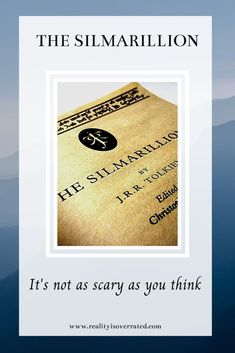 I tried to read The Simarillion about fifteen years ago. I opened it, read maybe five pages and gave up. One of my reading goals this year was to try again. It turns out The Silmarillion is not as scary as I thought. Reading Goals, I Love Reading, My Love Story, Book Reviews, Giving Up, Book Recommendations, Writing A Book, Talk To Me, Thinking Of You