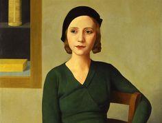 Donna Al Caffè Antonio Donghi Date: 1931 Style: Magic Realism Genre: portrait