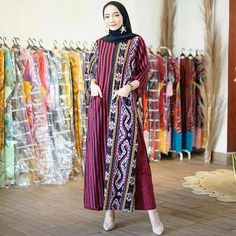 Visit Us : www. Batik Dress, Ikat, Huda Beauty, Muslim, Kimono Top, Sari, Formal, Womens Fashion, Outfits