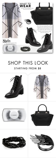 """""""What to Wear: Black Friday Shopping- shein 3"""" by angelstar92 ❤ liked on Polyvore featuring MAC Cosmetics, shoptilyoudrop and shein"""