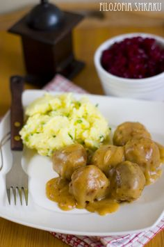 Szwedzkie klopsiki Polish Recipes, Polish Food, Good Food, Yummy Food, Kitchen Art, Savoury Dishes, Food Porn, Food And Drink, Favorite Recipes