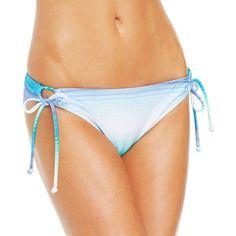 Roxy Shimmer Adjustable-Ties Hipster Bikini Bottom Women's Swimsuit (155 HKD) ❤ liked on Polyvore