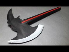 | DIY | How to make a paper double blade sword- EASY TUTORİAL-Toy Weapons-By Dr. Origami - YouTube Paper Folding Crafts, Cool Paper Crafts, Diy Crafts To Do, Paper Crafts Origami, Diy Crafts Hacks, Diy Arts And Crafts, Diy Paper, Instruções Origami, Origami Videos