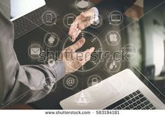 Business partnership meeting concept.photo businessman handshake. Successful businessmen handshaking after perfect deal with virtual graph chart interface screen