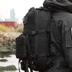 Made of military-spec Cordura, it's built to withstand bomb blasts. It opens super-wide for unrestricted access to your cargo. And whatever you can't fit inside it, you can strap on—the exterior of the pack is a matrix of sturdy, military PALS webbing so you can keep your machete or water bottle (depending on the situation) close at hand.  Machete for sure #zombieapocalypse