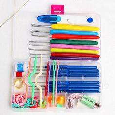 Sewing Tool Set 16 Sizes Crochet Hooks Needles Stitches Knitting Craft Case Crochet Set-in Sewing Tools & Accessory from Home & Garden on Aliexpress.com | Alibaba Group