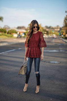Pin for Later: 8 Façons de Jouer Avec la Mode Pendant la Mi Saison Un Top Peplum…