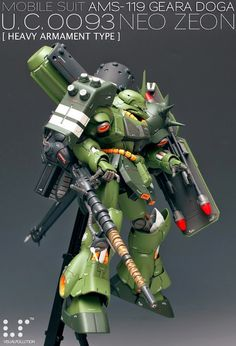 MG 1/100 Geara Doga [Heavy Armament Type] - Custom Build - Gundam Kits Collection News and Reviews