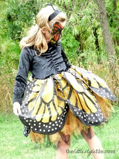 monarch butterfly costume from chasing fireflies. #halloween #kids #girls #costume