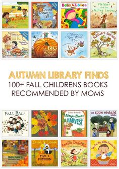 Awesome collection of kids books for fall *Reserving some of these from the library right now!