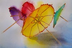 Carol Carter watercolor, use as an example for umbrella paintings.