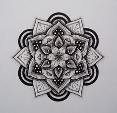 Mandala Pattern black & white color