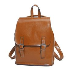 81e52c433d0e Genuine Leather Backpack Vintage College School Backpack Women s Natural Leather  Backpack  women  womenstyle