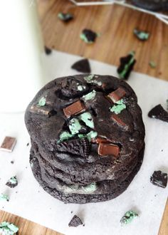 Double Mint Chocolate Cookies - Life Love and Sugar