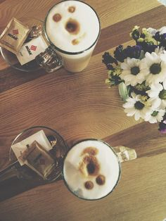 Life is too short for bad coffee. Coffee , flowers, autumn