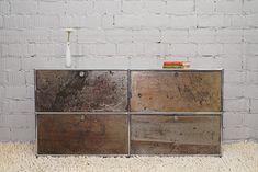 Sideboard 2 OH mit 4 Klapptüren - Rost Edition - Designklassiker von blucom24.de
