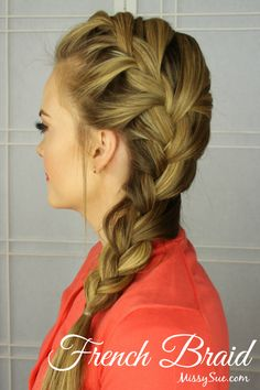 Beauty Basics: How to Braid - missy sue Missy Sue Hair, Pretty Hairstyles, Braided Hairstyles, Updo Hairstyle, Corte Y Color, Great Hair, Hair Day, Gorgeous Hair, Hair Inspiration