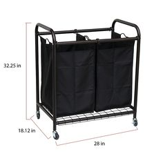 The Oceanstar Laundry Sorter is the ideal solution for all your laundry storage and organization needs. Removable bags allow you to lift, grab and go. Durable metal frame with 4 caster wheels that can withstand heavy and frequent use. Rolling Laundry Basket, Laundry Cart, Laundry Sorter, Laundry Storage, Laundry Hamper, Storage Organization, Laundry Decor, Clothes Storage, Laundry Rooms