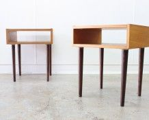 1960s Mid Century Bedside Cabinets - The Vintage Shop