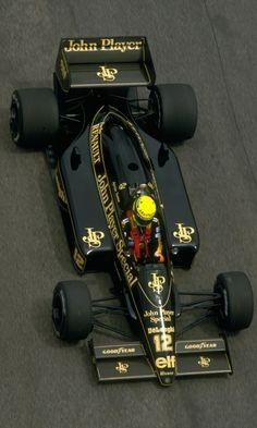 Ayrton Senna da Silva (BRA) (John Player Special Team Lotus), Lotus - Renault (t& (finished 1986 Brazilian Grand Prix, Jacarepaguá Circuit Lotus Auto, F1 Lotus, Escuderias F1, Brazilian Grand Prix, Course Automobile, F1 2017, Gilles Villeneuve, Formula 1 Car, F1 Drivers