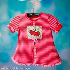 Nähfrosch nähen Schnittmuster Tunika Owl Princess aus Ottobre Stickdatei Sweet Cherrys von Lollipops for Breakfast Stoff von Astrokatze DIY sewing