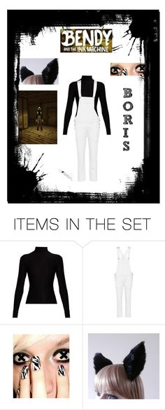 """""""Bendy and the Ink Machine: Boris"""" by irken-invader-tak ❤ liked on Polyvore featuring art"""