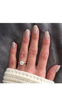 A neutral gray mani + solitaire engagement ring: http://www.stylemepretty.com/2016/05/05/smpringselfie-hall-of-fame/