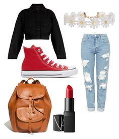 """First look!"" by emdaboe ❤ liked on Polyvore featuring Converse, Topshop, Yves Saint Laurent, Humble Chic, Madewell and NARS Cosmetics"