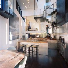 cool kitchen & wood flooring