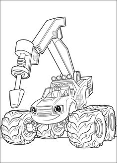 blaze and the monster machines coloring pages. Blaze and The monster machine is a film that tells the story of a monster truck adventure called Blaze, the story is exciting. The story is always abo. Monster Truck Coloring Pages, Race Car Coloring Pages, Paw Patrol Coloring Pages, Coloring Pages For Boys, Cartoon Coloring Pages, Coloring Pages To Print, Coloring Book Pages, Printable Coloring Pages, Kids Coloring