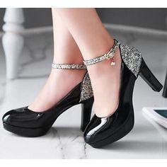 c84c5196b Feminino Sapatos Couro Ecológico Outono Conforto Saltos Para Casual Branco  Preto Bege Rosa claro - BRL