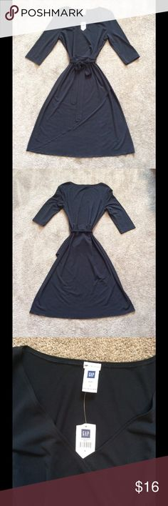 NWT Gap Black Belted Dress NWT Gap Black Belted Dress, Size Small GAP Dresses