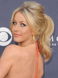 Pin for Later: Endless Gorgeous Celebrity Wedding Hair Ideas Wedding Hairstyles: Ponytails For a youthful look, try Julianne Hough's bouncy 2011 Country Music Awards ponytail and face-framing fringe.
