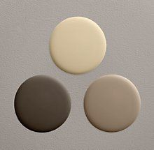 paint colors. Cabinet color the dark. Top half wall the light and lower half the medium ..for master bath !