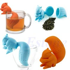Squirrel Tea Infuser Loose Leaf Strainer Herbal Spice Silicone Filter Diffuser in Home & Garden, Kitchen, Dining & Bar, Small Kitchen Appliances | eBay
