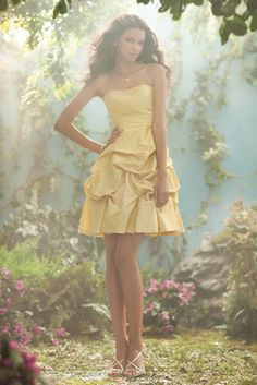 bridesmaid dress - I like the folds! It looks like a short version of Belle's ball gown