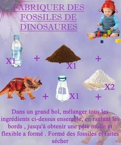 Your kids are budding archaeologists and you want to build very realistic fossils for them to have fun discovering small dinosaurs hidden inside the rocks? Diy Toys And Games, Dinosaurs Preschool, Winter Songs, Dinosaur Fossils, 4 Kids, Birthday Party Themes, Kids Learning, Crafts For Kids, Activities