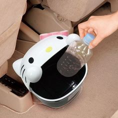 Sanrio 2013 Hello Kitty in Pink Ribbon Desktop Car Trash Can Garbage Recycle Bin | eBay